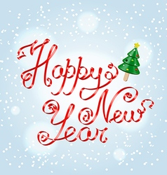 Happy New Year greetings lettering vector image vector image