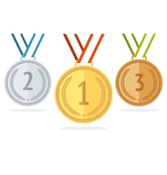Medal Set Flat Style vector image vector image
