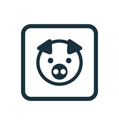 pig icon Rounded squares button vector image vector image