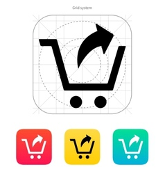 Remove from shopping cart icon vector image