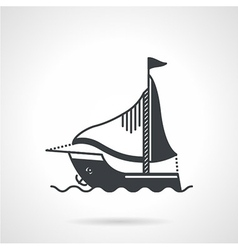 Sailing yacht black icon vector image vector image
