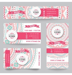 Set of corporate identity templates with doodles vector image vector image