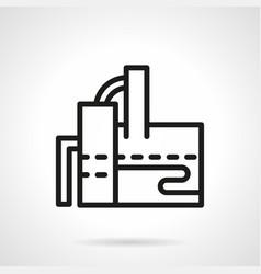 sugar factory simple line icon vector image vector image