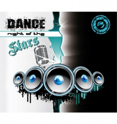 techno dance background vector image vector image