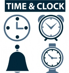 time clock signs vector image vector image