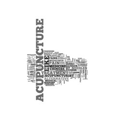 Acupuncture the alternative medicine from the vector