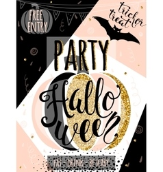 Halloween glitter luxury vector image