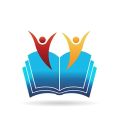 People book education logo vector image vector image