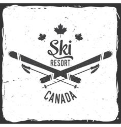 Ski resort Canada vector image vector image