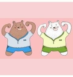 2 bears vector