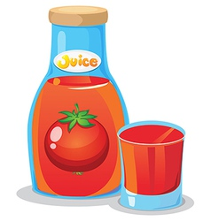 A bottle of tomato juice vector image