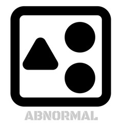 Abnormal conceptual graphic icon vector