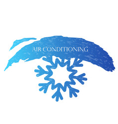 air conditioning snowflake vector image