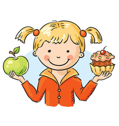 apple and cake vector image vector image