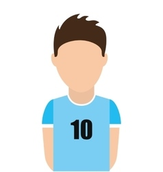 Argentina football player shirt icon vector
