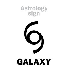 Astrology galaxy vector