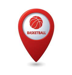 Basketball RED pointer vector