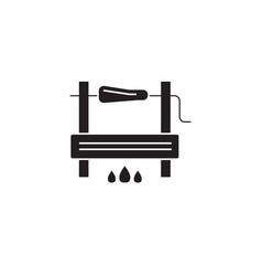 bbg cooking black concept icon bbg cooking vector image