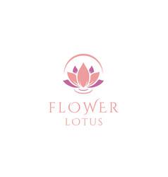 beauty elegant lotus flower spa logo design vector image