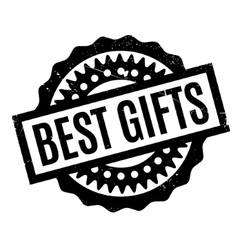 Best Gifts rubber stamp vector