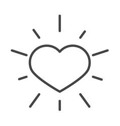 Black heart love romantic passion line icon style vector