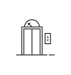 black thin line elevator icon for house or hotel vector image