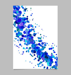 Blank abstract curved confetti page background vector