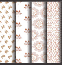brown sets geometric patterns vector image
