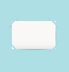 Business card blue holder vector