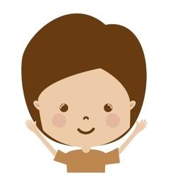 Cartoon boy icon vector