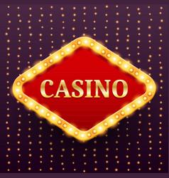 Casino luxury retro banner template vector