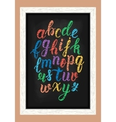 Chalk colorful hand drawn latin calligraphy brush vector