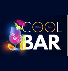 cocktail party and bar shining design template vector image