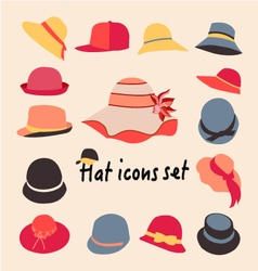 collection of hats for men and women vector image