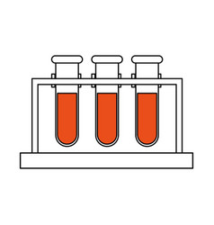 Color silhouette image test tube icon microbiology vector