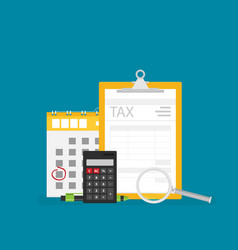 concept tax payment payment of debt in flat style vector image