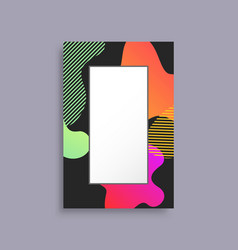 Decorated coloful photo frame vector