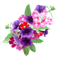 decorative floral bouquet vector image