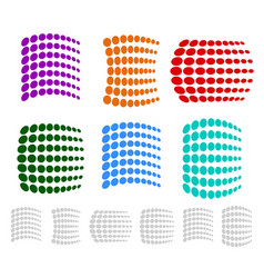 dotted element set vector image