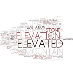 Elevated word cloud concept vector