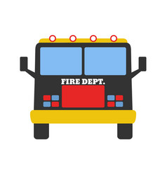 fire car fire departament equipment icons vector image