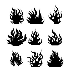 Fire silhouettes vector