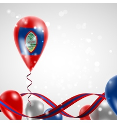 Flag of Guam on balloon vector image
