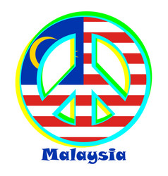 Flag of malaysia as a sign of pacifism vector