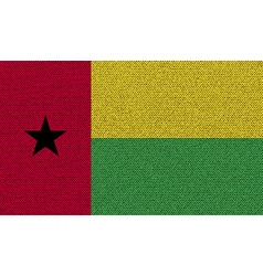 Flags GuineaBissau on denim texture vector