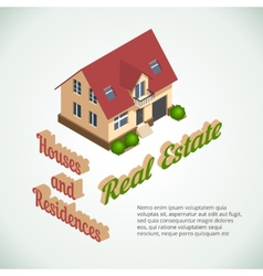 flat 3d real estate poster vector image