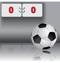 football ball with panel for score vector image