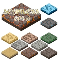 Game ground items vector image