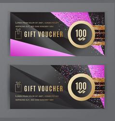 gift voucher template universal flyer vector image