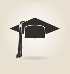 Graduate cap icon vector